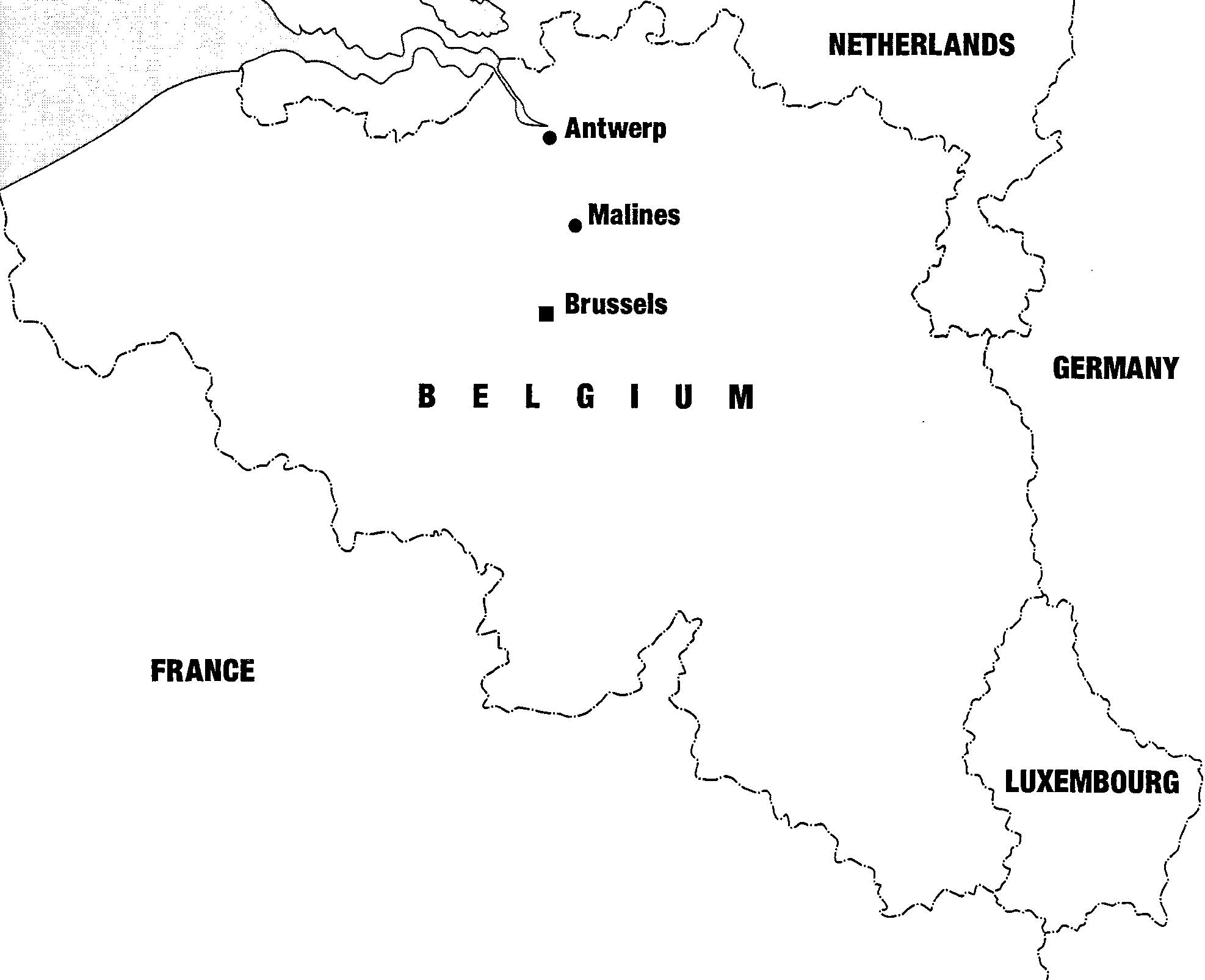 Map Of Germany France And Belgium.Belgium And Its Jews During The War