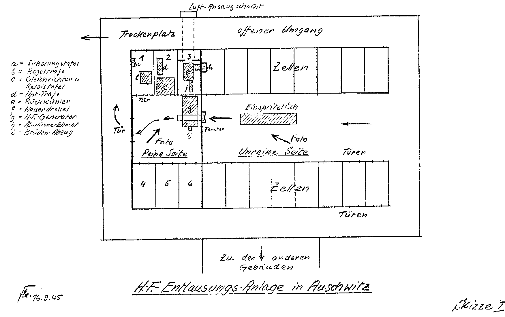 high frequency delousing facilities at auschwitz postwar diagram of a high frequency facility in auschwitz auschwitz was not the