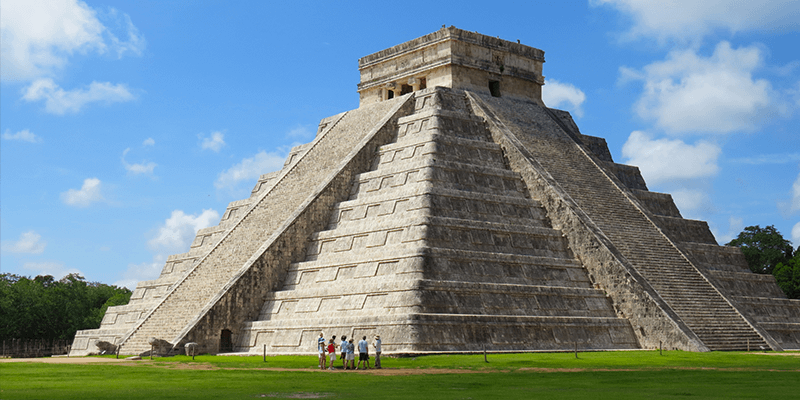 an overview of the mysterious temple and pyramids of the maya in mexico An unexpected discovery of a royal burial inside a previously unknown substructure of temple xiii in palenque, mexico temple xiii is a smaller pyramid structure adjoining the soaring temple of the inscriptions skeleton of mayan red queen in sarcophagus.